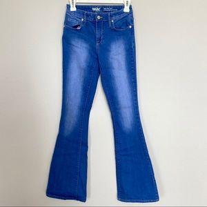 High rise flare stretch denim jeans size 00
